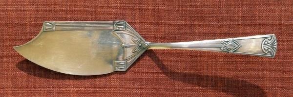 Versilberte WMF Jugendstil Fischvorlegeteile von 1886-1903