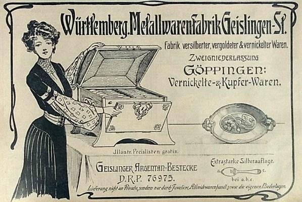 WMF Werbung von 1903