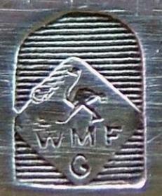 WMF Jugendstil Straußenmarke auf Bestecken, zwischen 1903 und 1930