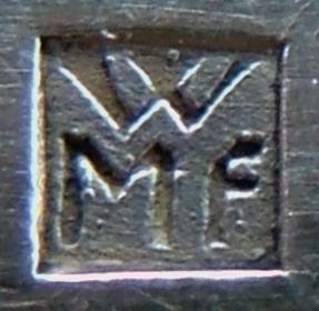 WMF 2D Stempel auf Besteck, benutzt 1920-1930.