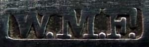 Typischer WMF Export Stempel für Bestecke, benutzt zwischen 1886 und 1903