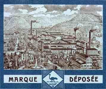 Ein Blick auf die Geislinger Fabrik , aus dem Kopf einer WMF Rechnung aus dem Jahr 1912
