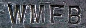 WMF Marke auf Korpusware aus den Jahren 1886-1903