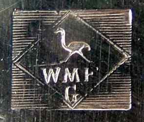 berühmte Straussenmarke, von WMF 1903-1920 verwendet