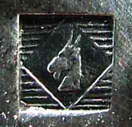 Ziegemarke für die Versilberung, verwendet von Manufacture de Alfenide von 1888-1932